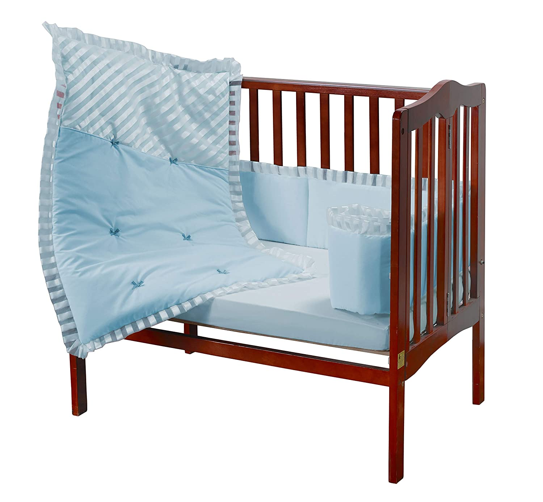Blue Baby Doll Bedding Candyland Mini Port-a-Crib Bedding Set