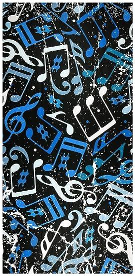 UniqueTowel Toalla de baño Ducha - Estampado música Notas - Grande 70x140 cm: Amazon.es: Hogar