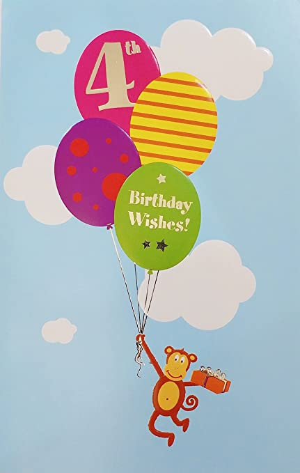 Amazon 4th Birthday Wishes