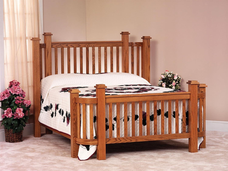 Craftsman arts craft mission bed frame set for Arts and crafts beds
