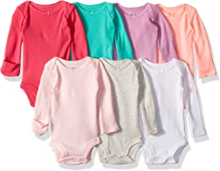 Carters Baby Girls 7-Pack Long-Sleeve Bodysuits