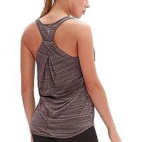 icyzone Camiseta sin Mangas de Suelta Racerback Fitness para Mujer para Yoga Correr