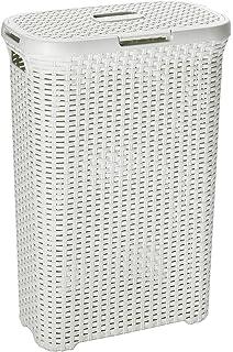 Curver 193010 - Cesto Natural Style, 40 L, 44 x 26 x 61 cm, color blanco vintage: Amazon.es: Hogar