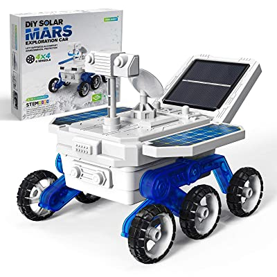 ASSENIO STEM Toys for Boys Girls 8-12 Year Old DIY Solar Car Mars Rover Toy Science Experiment Building Projects Kit STEM Education Gifts for Kids Ages 6-12