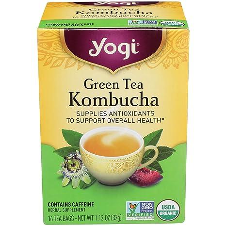 Yogi Tea Green Tea Kombucha Organic, 16 Count