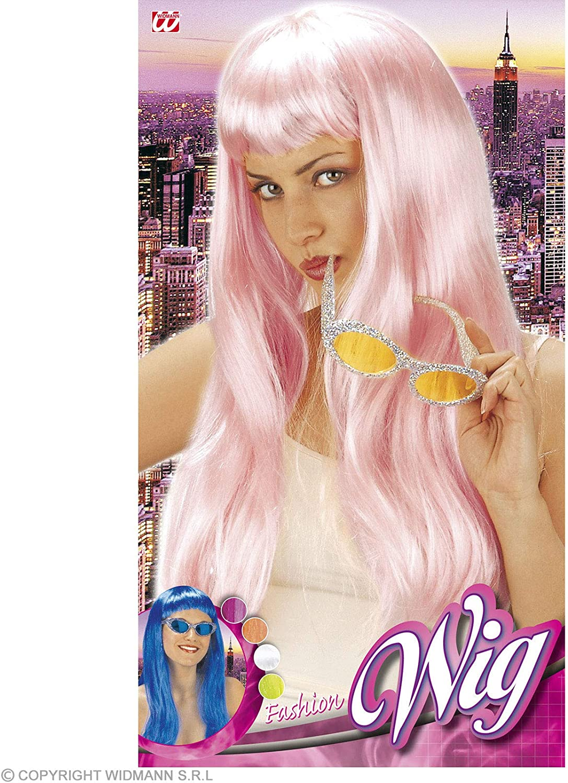 Fashion Grn//Blue//White//Orange//P.Pink//Magenta Wig for Hair Accessory Fancy Dress
