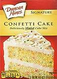 Duncan Hines Signature Cake Mix, Confetti, 16.5 Ounce
