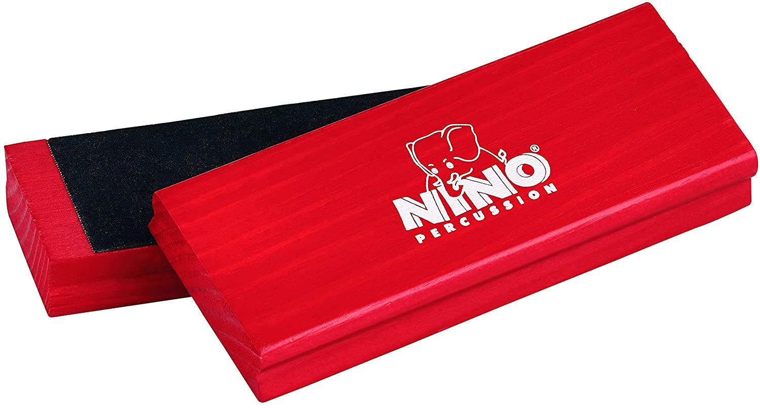 Nino Percussion NINO940R Sand Block Pair, Red