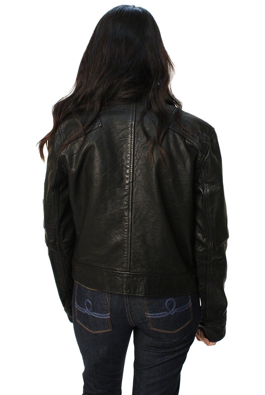 Polo Ralph Lauren chaqueta de Moto de piel Para Mujer ...