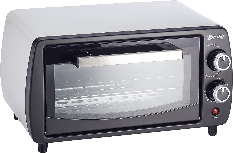 Mesko MS6004 Horno de sobremesa de 12 litros, 1000 W, 0 Decibeles, Blanco