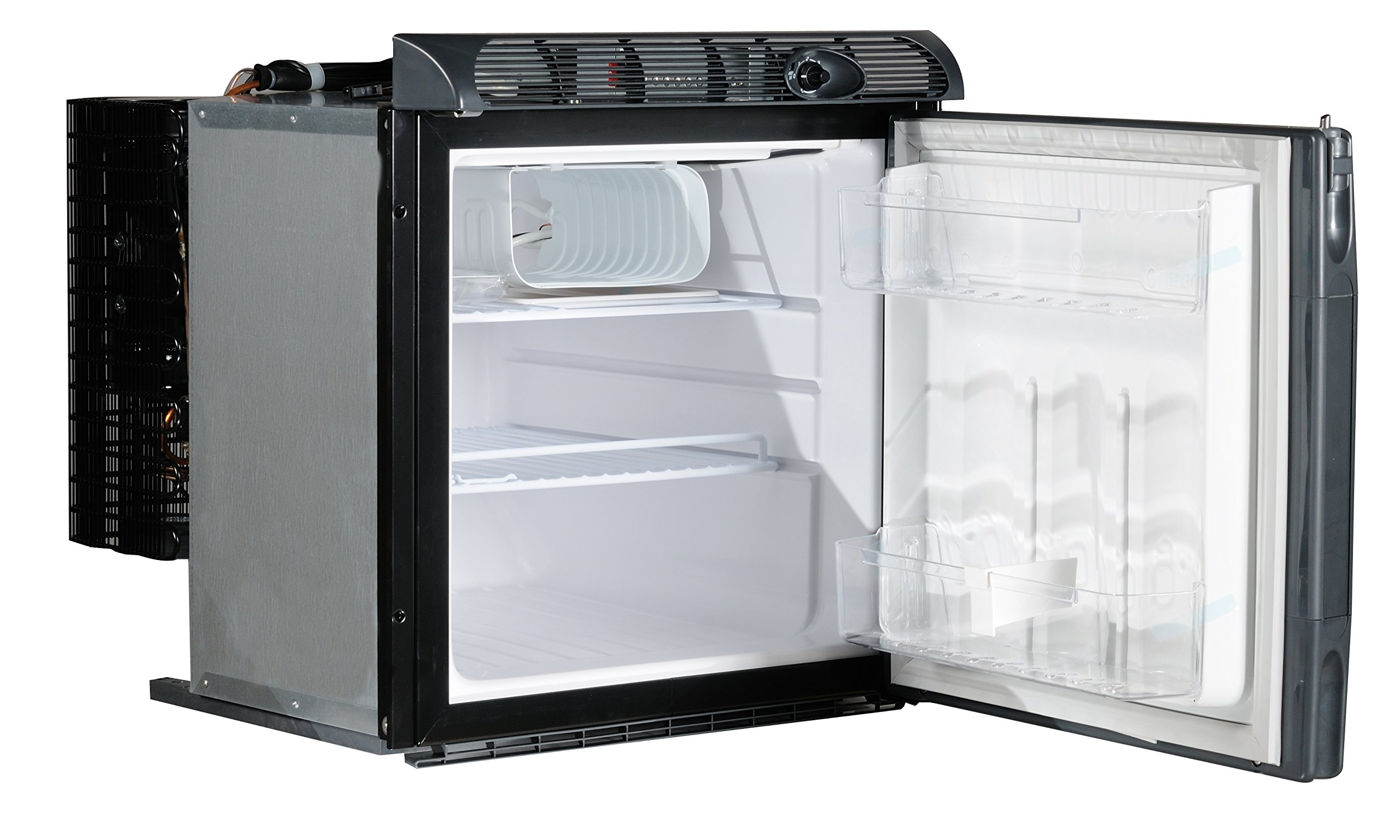 Engel SB70F 60 Qt. Built-in DC Only Front-Open Fridge Freezer 5  Solar Compatible - Low Amp Draws (even at start-up) Sized to Fit Industry Standard Cut-Outs in Most RV's Withstands Extreme Conditions - Incline Operation up to 30º
