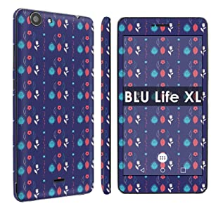 BLU Life XL [Phone Skin] - [SkinGuardz] Full Body Scratch Proof Vinyl Decal Sticker with [WallPaper] - [Flower Leaf Pattern] for BLU Life XL