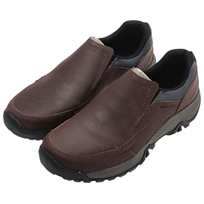Merrell Men's Oak Anvik Moc Leather Slip-On Shoes Brown Size 9   Loafers & Slip-Ons