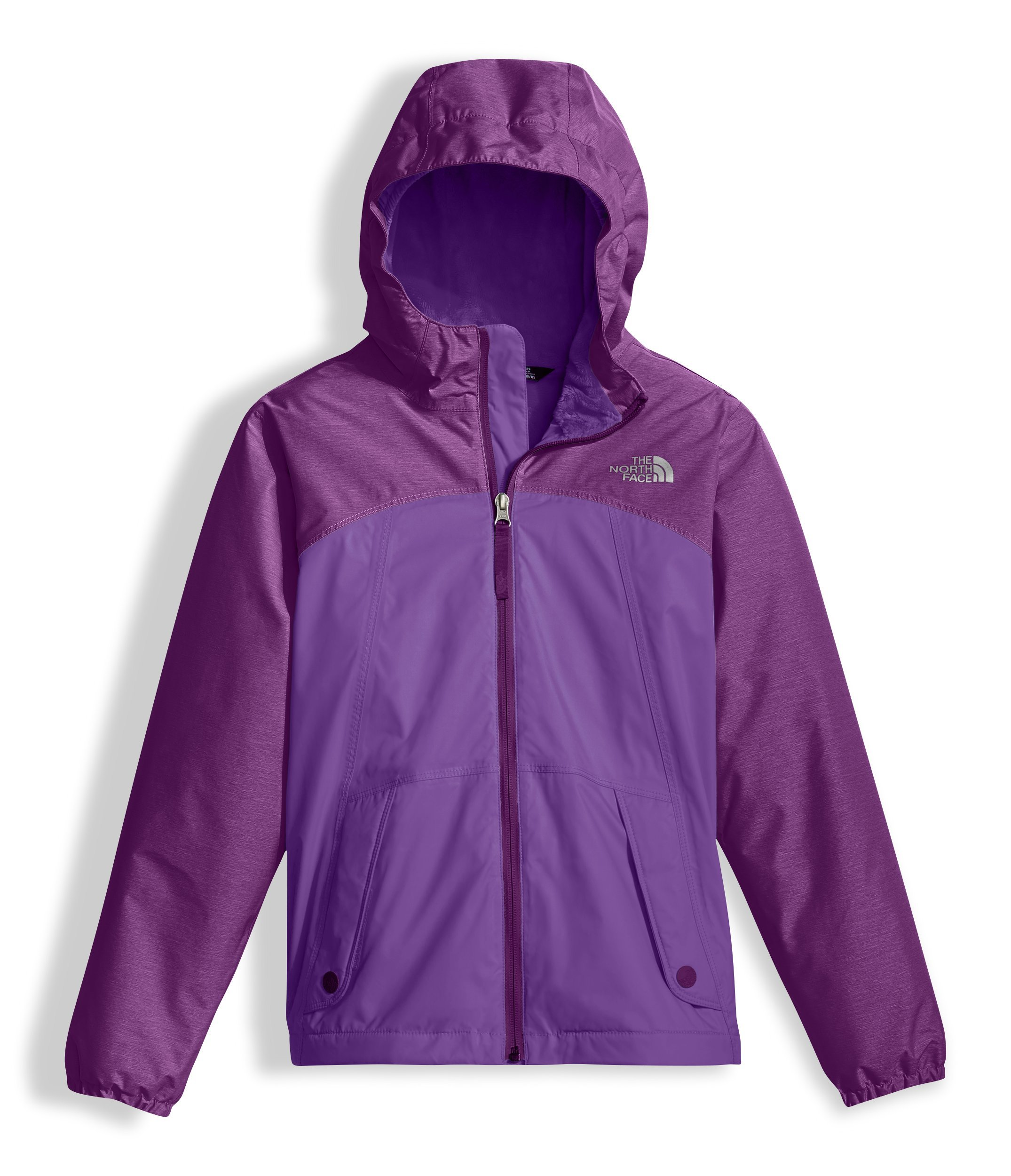 The North Face Girl's Warm Storm Jacket - Bellflower Purple - M (Past Season)