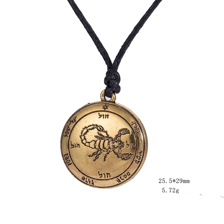 fishhook Attaches de Type The Fifth Pentacle du Scorpion Mars Touche de Salomon prot/éger /à partir de Mauvais Esprits Collier