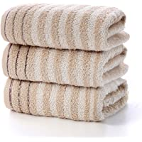 """Bathroom Hand Towels Set 100% Cotton Soft Highly Absorbent Striped Pattern Hand Towels for Bath, Hand, Face, Size 13"""" x…"""