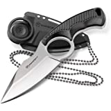 Kilimanjaro 910106 Men's Stretta Tactical Neck Knife - with 6.4-inch overall length, 8Cr13MoV Stainless Steel 3.2-inch…