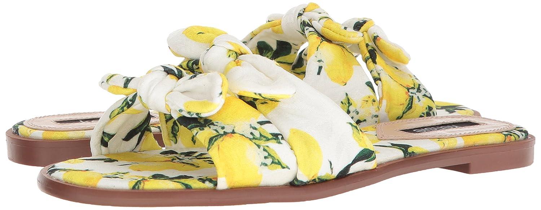 kensie Women's Millard Flat Sandal B0786NX8R3 7.5 B(M) US White/Multi