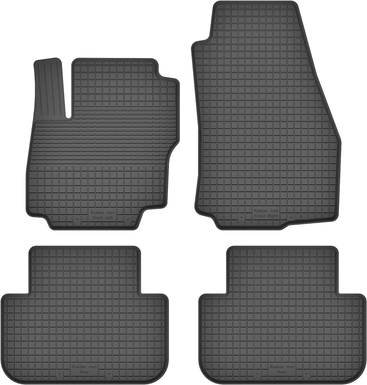 Ko Rubbermat Gummimatten Fußmatten 1 5 Cm Rand Geeignet Zur Ford C Max I Ii Bj 2003 2019 Ideal Angepasst 4 Teile Ein Set Auto