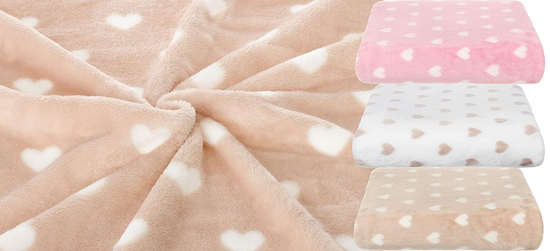 Brand sseller Baby Couverture microfibre Plaid avec c/œur douillet et chaud 100/x 150/cm