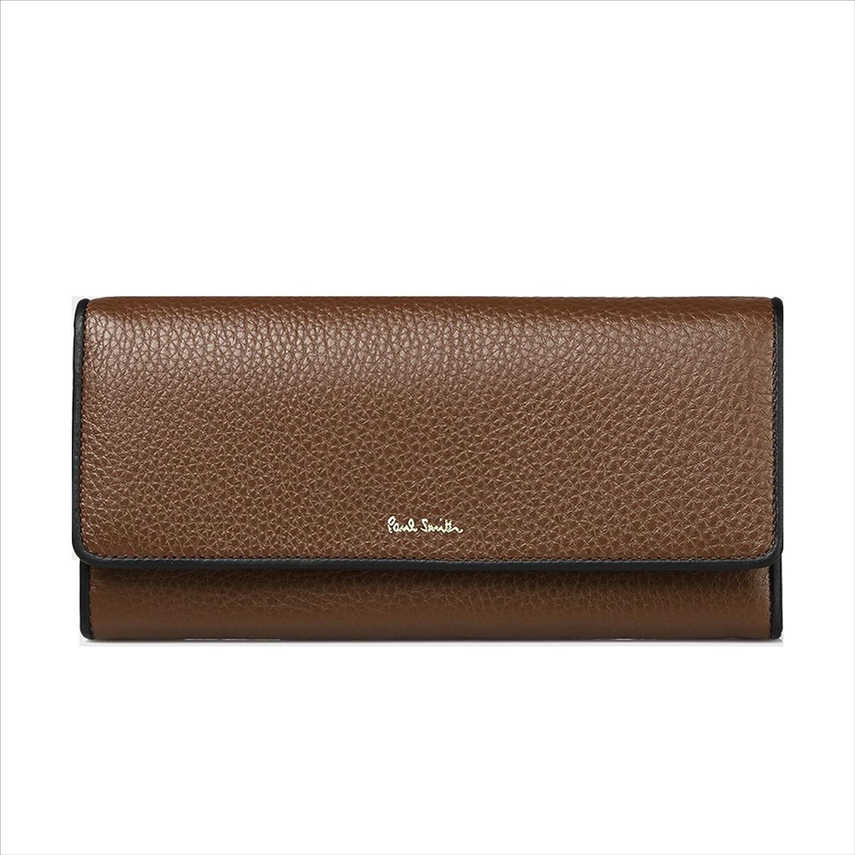 ポールスミス Paul Smith レディース 財布 マルチストライプ タブ かぶせ 長財布 (ブラック) B078NXMDMJ ブラウン ブラウン