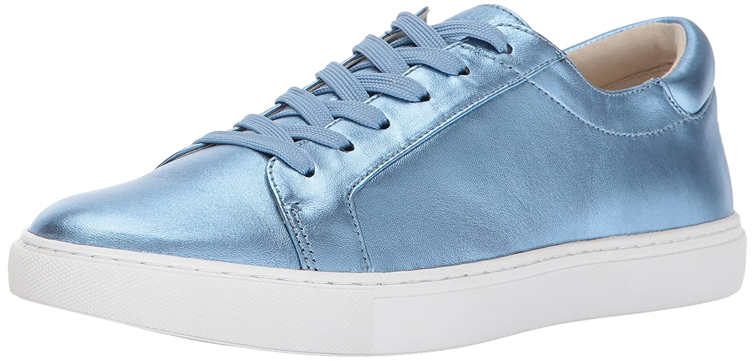 Kenneth Cole New York Women's Kam Low Profile Metallic Leather Fashion Sneaker B01MUDWKAV 9.5 B(M) US|Ice Blue