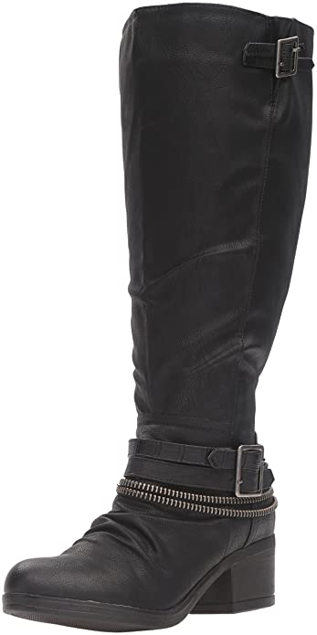 Carlos by Carlos Santana Women's Candace Wide Calf Riding Boot, Black, ...
