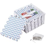 KnitIQ Blocking Mats for Knitting – Extra Thick Blocking Boards with Grids with 30 T-pins and Storage Bag for Needlework or Crochet - Pack of 9
