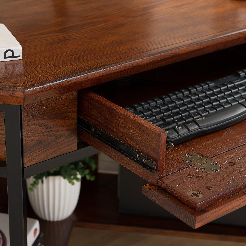 Lid german beer mug hinged lid gaming computer desk ideas - Amazon Com Leick 11230 Iron Craft Corner Computer Writing Desk Kitchen Dining