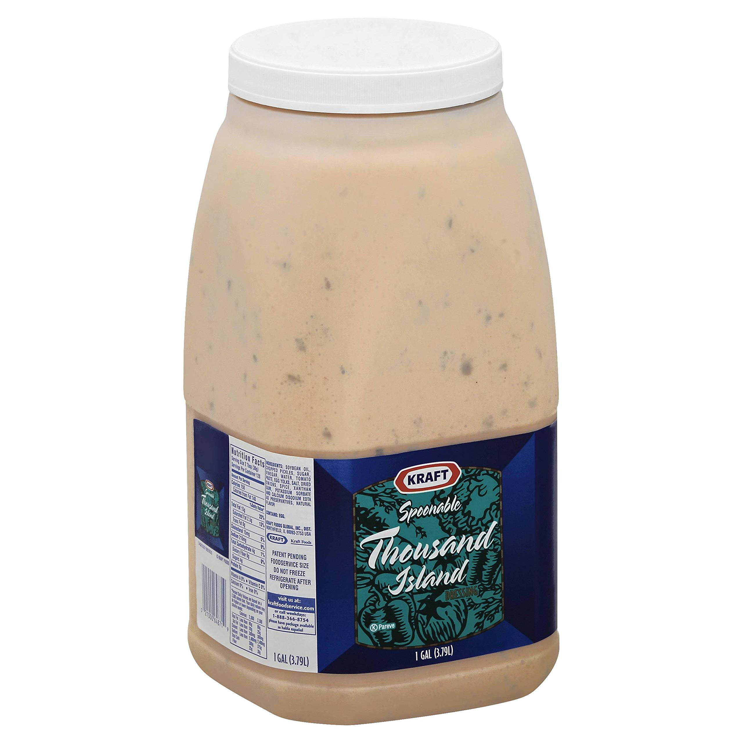 Dressing 1000 Island Spoonable 4 Case 1 Gallon by Kraft
