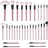 (Pink) - DRQ Professional Makeup Brush Set Pro Cosmetic-32pc Studio Pro Makeup Make Up Cosmetic Brush Set Kit w/Leather Case - For Eye Shadow, Blush, Concealer, Etc. (Pink)
