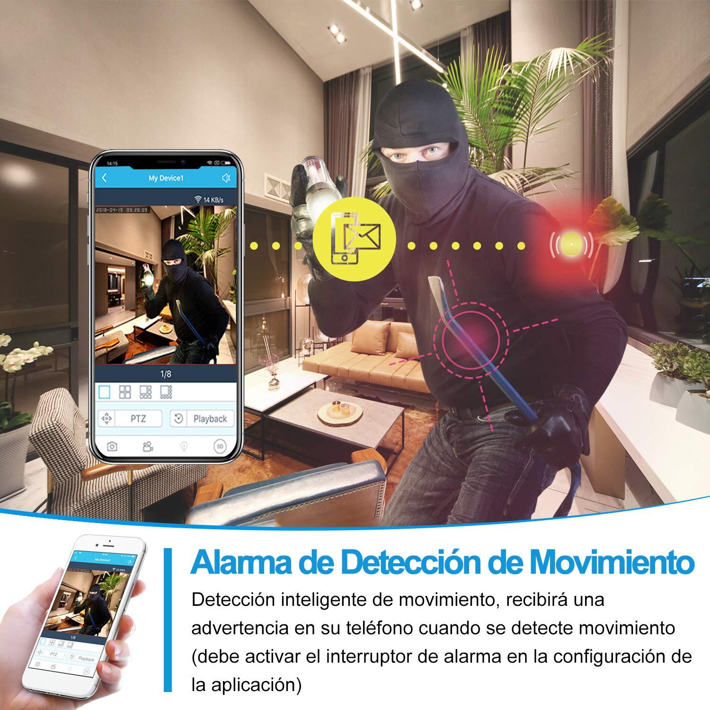 Compatible con iOS//Android Camara Vigilancia WiFi Interior con Audio Bidireccional Servicio de Nube|Seguridad WiFi FHD1080p Alerta de Movimiento Camara Vigilancia Bebe