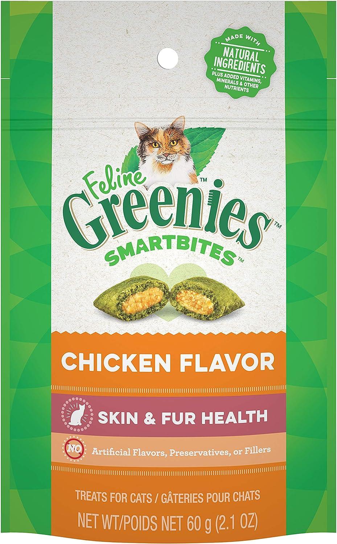Greenies Feline SMARTBITES Healthy Skin and Fur