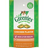 Greenies Feline SMARTBITES Healthy Skin and Fur, Chicken and Salmon