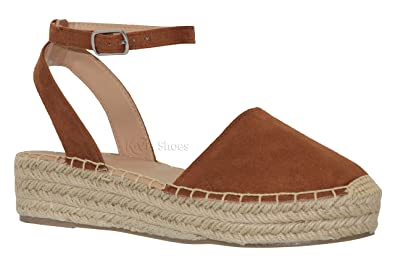 205dd5b23d3 MVE Shoes Women s Flatform Sandals - Open Ankle Closed Toe Sandals - Cute  Summer Wedges Sandals