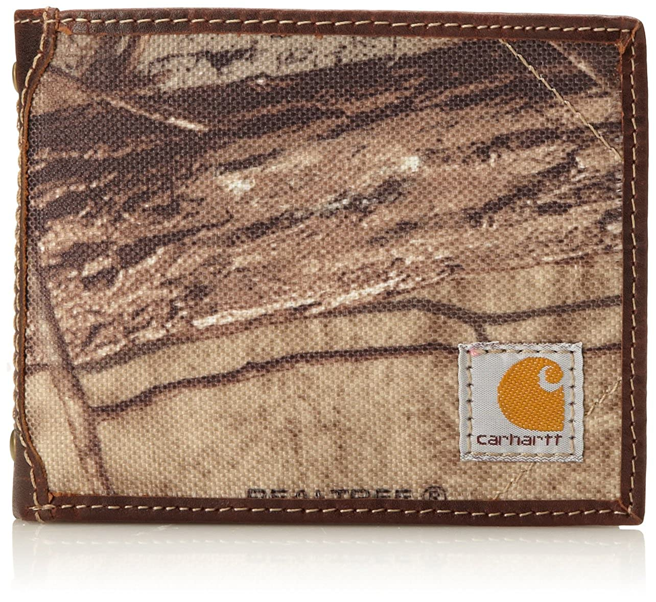 Black Carhartt Men/'s Canvas Passcase Wallet One Size