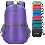 ZOMAKE Ultra Lightweight Packable Backpack Water Resistant Hiking Daypack,Small Backpack Handy Foldable Camping Outdoor Backpack Little Bag(Purple)