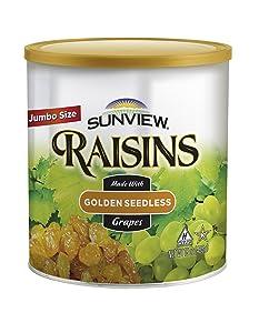 Jumbo Golden Seedless Raisins 3 15 oz. Canisters