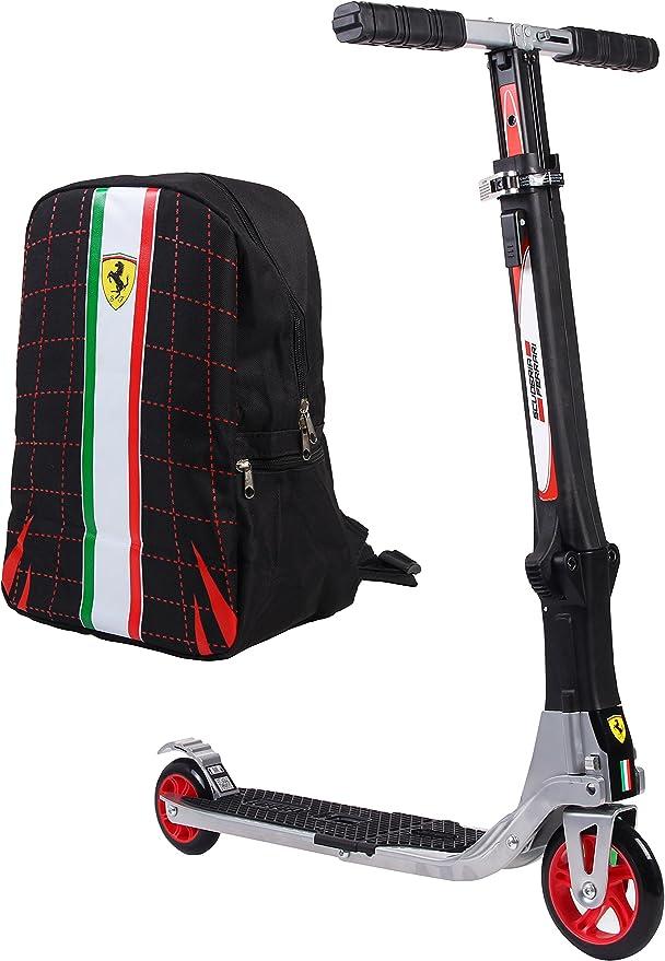 Amazon.com: Ferrari - Patinete plegable con dos ruedas ...