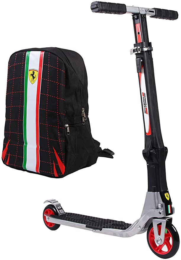 Amazon.com: Ferrari - Patinete plegable con dos ruedas ...