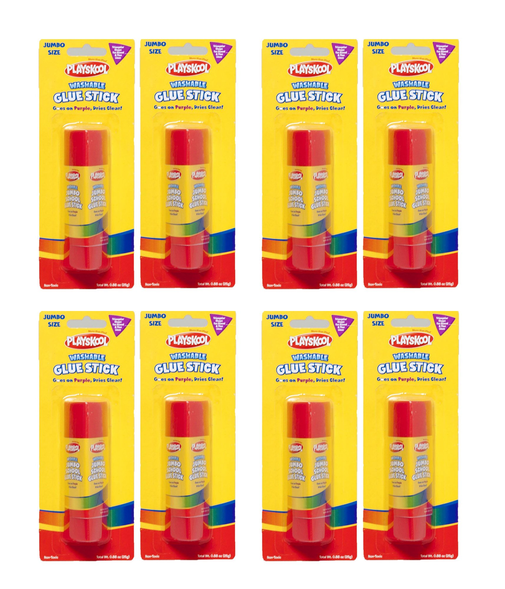 Playskool Triangular Washable Jumbo Glue Stick (8 Sticks)