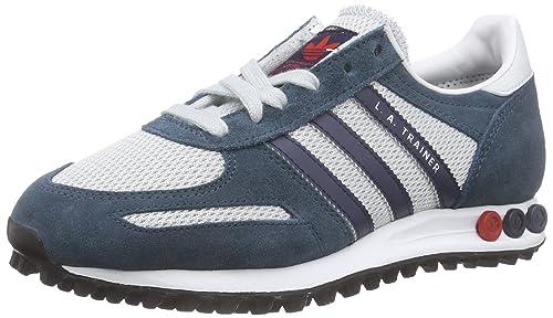 free shipping ef7e4 c4a23 adidas La Trainer, Zapatillas para Hombre, GrisAzul MarinoRojo, 37 13  EU Amazon.es Zapatos y complementos