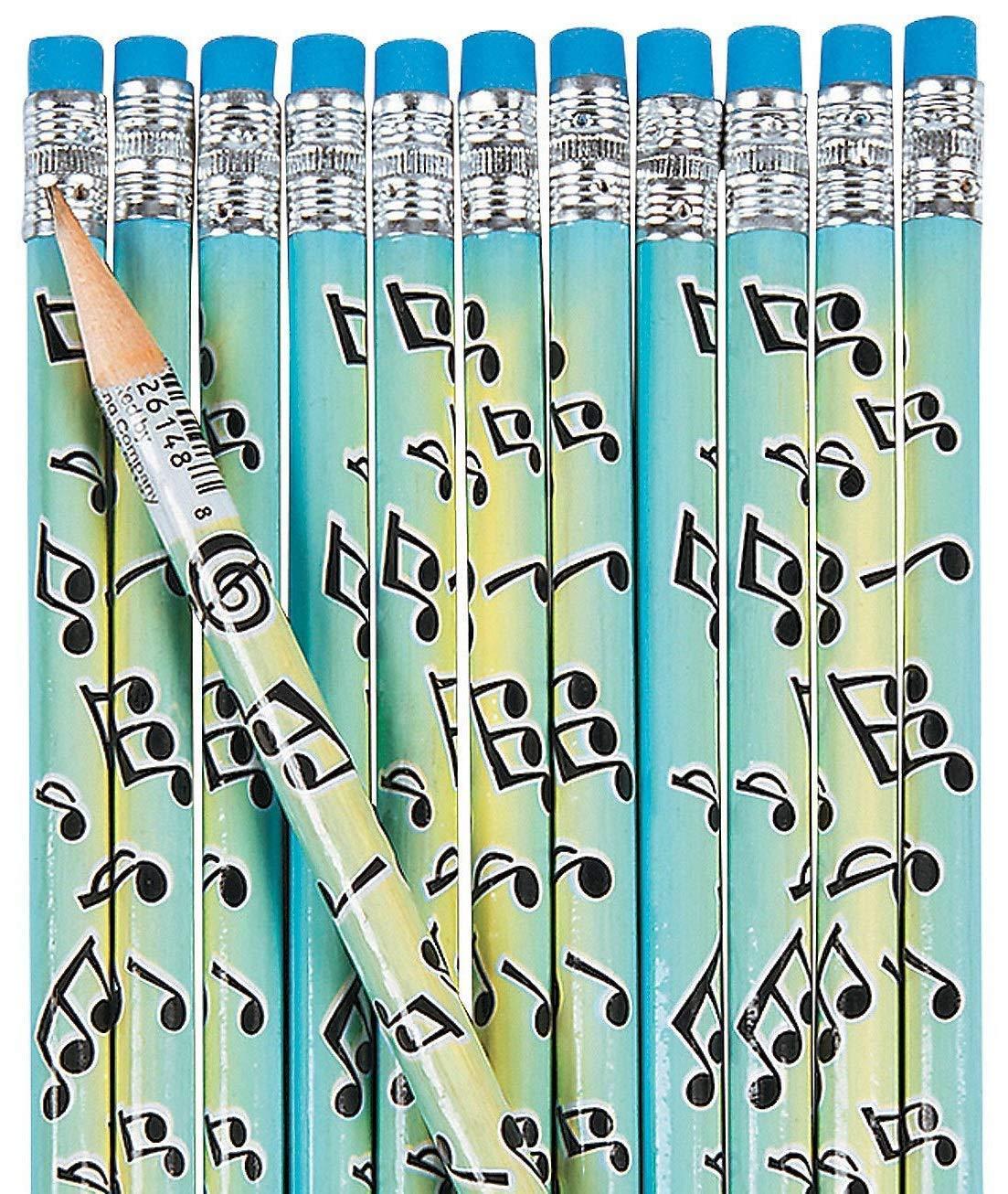 Musical Notes Pencils (4 dozen per unit) 7 1/2'' by FX
