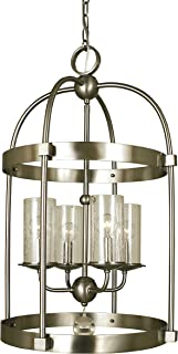 "product image for Framburg 1104 AB 4-Light Compass Dining Chandelier, 64"" x 17"" x 28"", Antique Brass"
