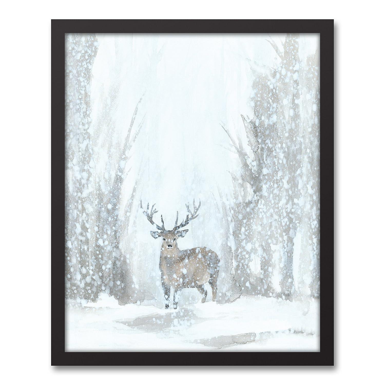 Snowy Forrest風景壁アート 16x20 グレー 170951959413-873 B0763SYGN4   16x20