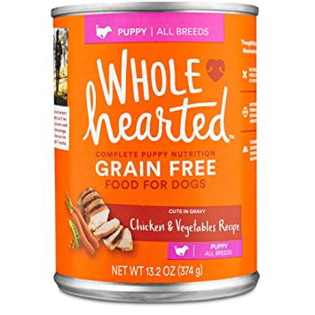 Amazon Wholehearted Grain Free Puppy Chicken And Vegetable