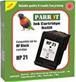 Parrot Refill for HP 21 Black Ink Cartridge for Deskjet