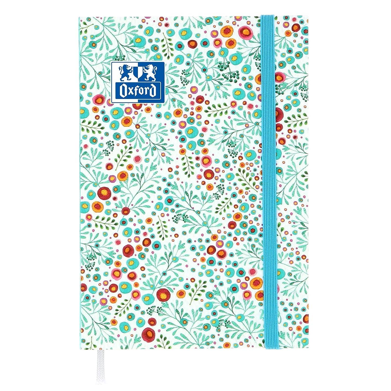 Oxford Flowers agenda escolar (años 2017 – 2018 1 día por página 352 páginas 12 x 18 cm blanco 2