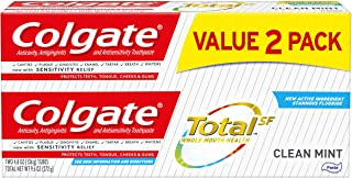 product image for Colgate Total Toothpaste, Clean Mint, 9.6 Ounce (2-Pack)