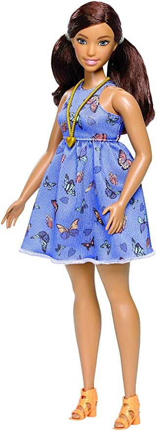 Barbie Fashionista, muñeca Curvy con Vestido Primavera (Mattel DYY96): Amazon.es: Juguetes y juegos